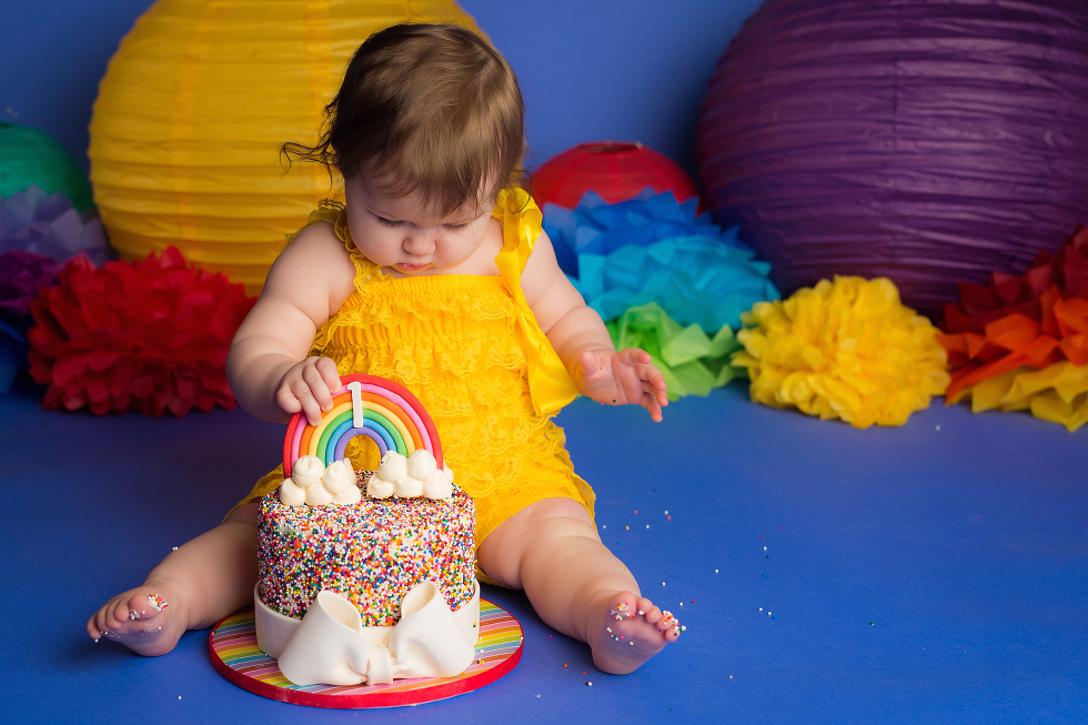 Nicole Israel Photography Rainbow Cake Smash